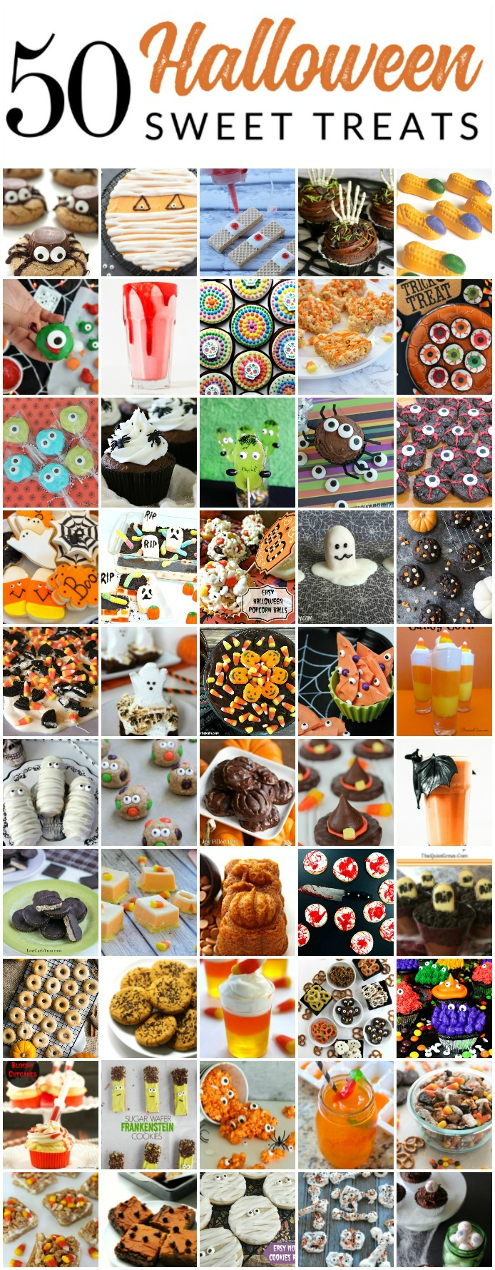 These sweet  treats for Halloween are ADORABLE! Check out these 50 Halloween Baking ideas, perfect for a party or small crowd. These Halloween recipes are just as cute as they are spooky! There are even a few healthy options.