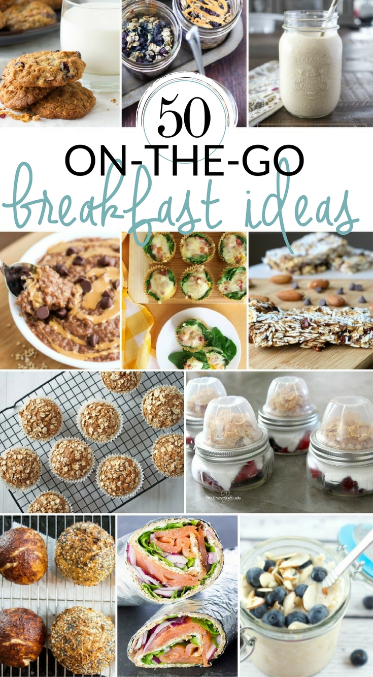 Take the stress out of busy mornings with these 50 Grab-and-Go Breakfast ideas. Try one of these easy and healthy make ahead recipes for a quick and portable breakfast option.