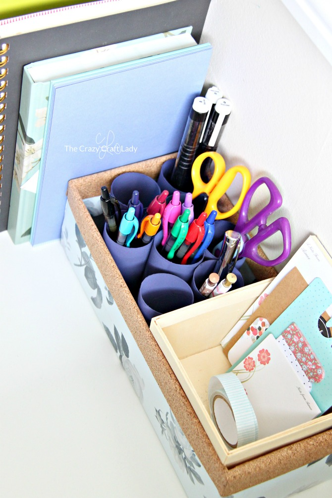 Follow This Tutorial To Make A Simple Upcycled Desktop Pen Organizer Keep Your Desk Clear