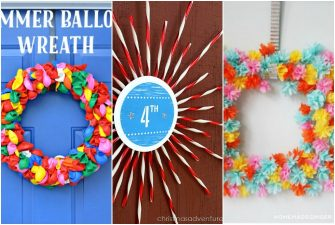 15 Beautiful Summer Wreaths made from Dollar Store Supplies