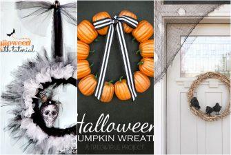 16 DIY Dollar Store Halloween Wreaths