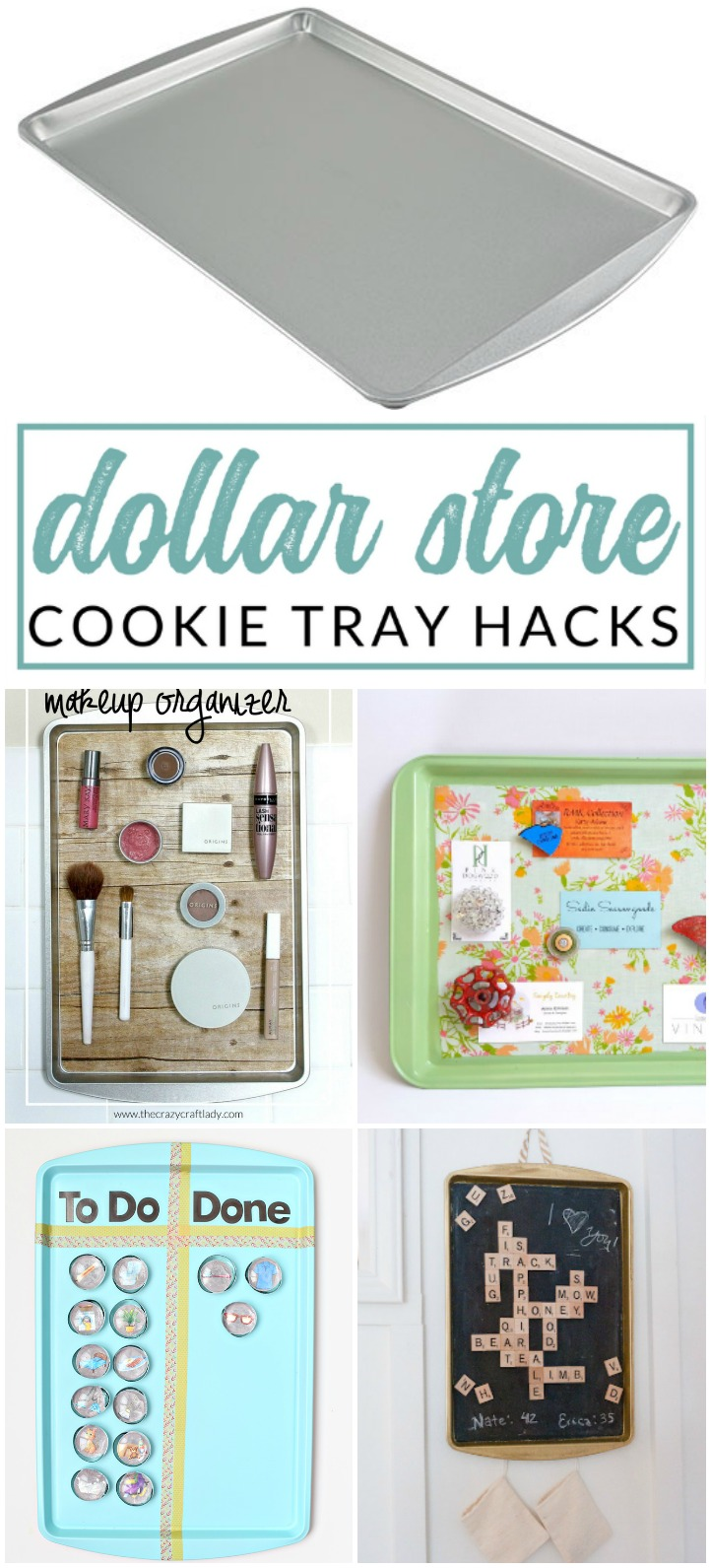 Genius Decorative Magnetic Boards made from Dollar Store Cookie Sheets
