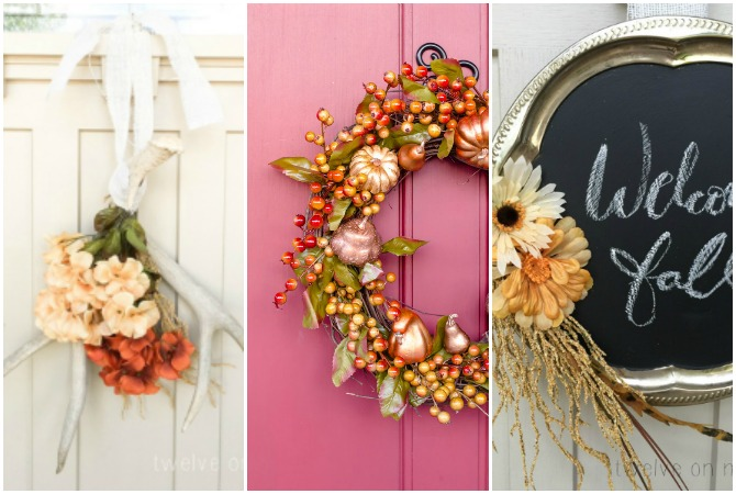 DIY Dollar Store Fall Wreaths – You won't believe that these Beautiful Fall Wreaths were made from dollar store supplies!