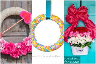 9 Dollar Store Valentine Wreath Ideas