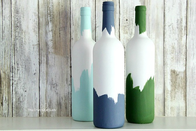 Painted Decorative Wine Bottles – The Perfect Wine Night Upcycle