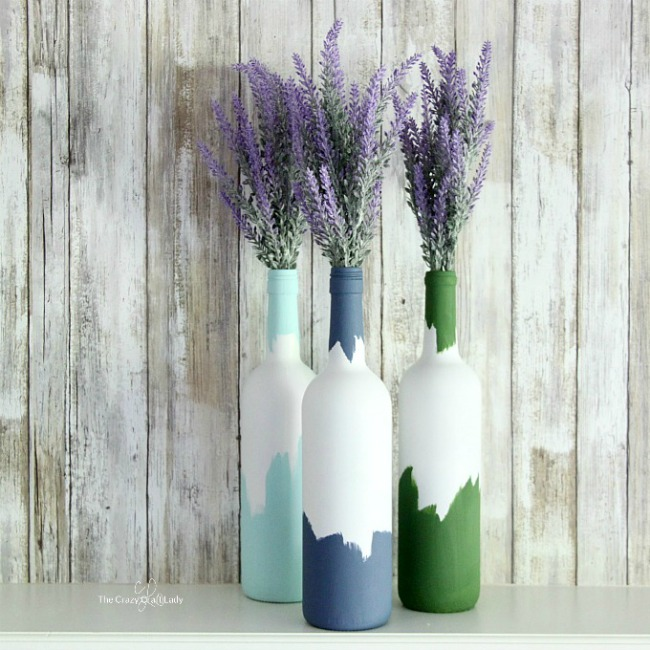 Decorative Wine Bottles Delectable Painted Decorative Wine Bottles  The Perfect Wine Night Upcycle Review