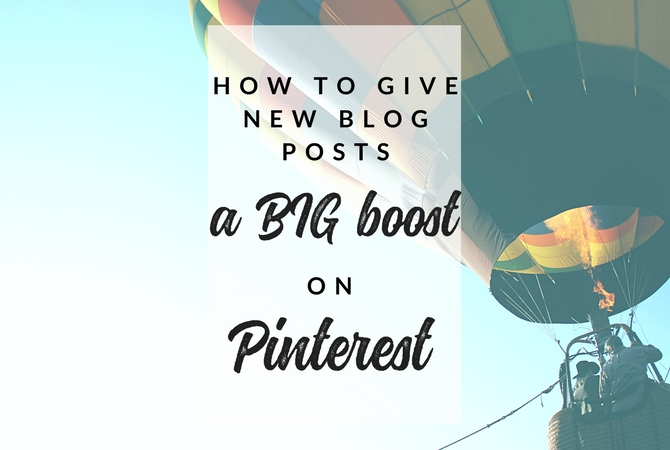 Make the Pinterest smart feed work for you - give new blog posts and pins a big boost with this simple 3-step Pinterest strategy.