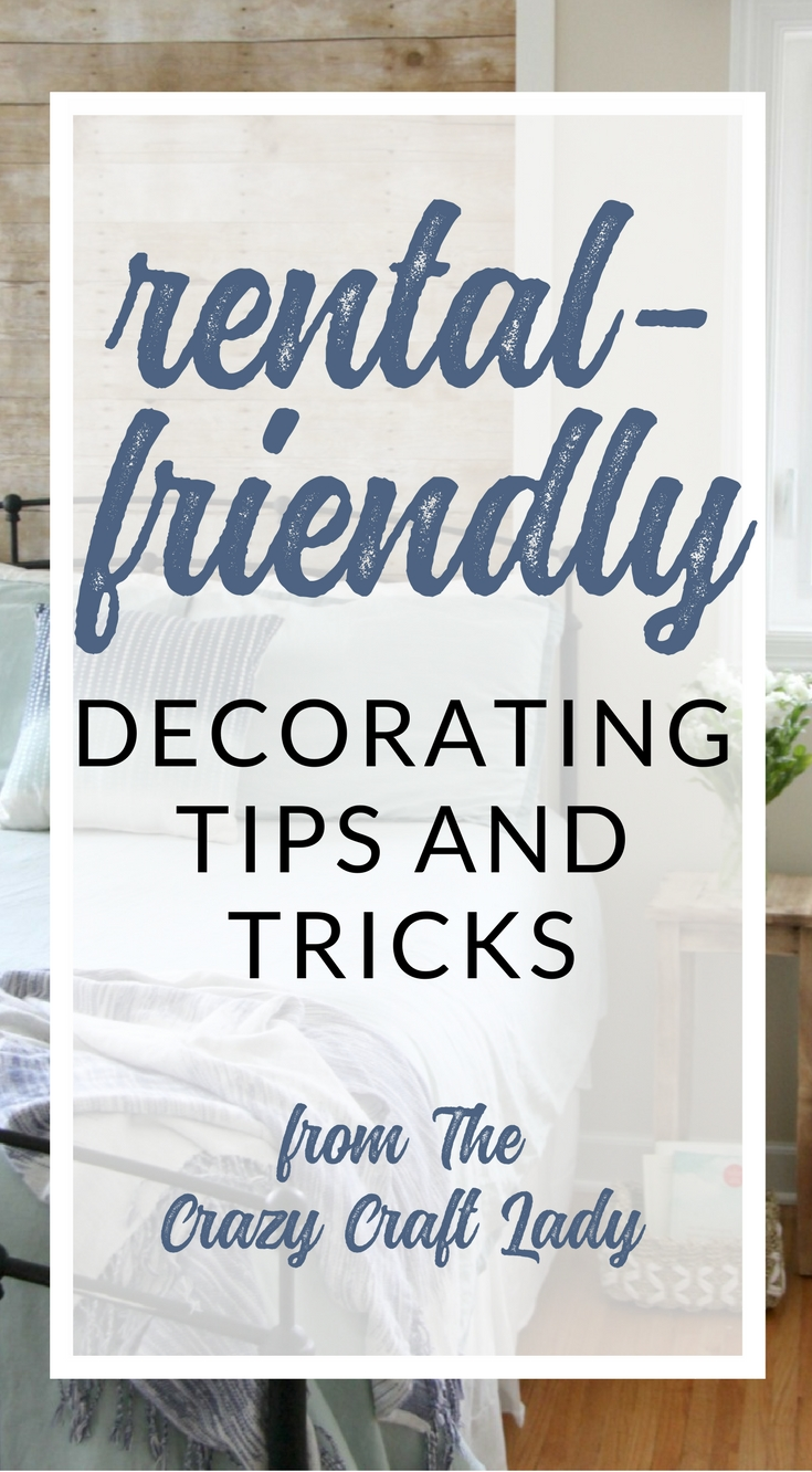 Rental-Friendly Decor from The Crazy Craft Lady, Damage-Free Decorating tips and tricks