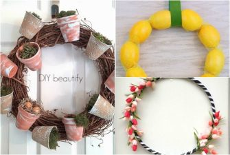 Spring Wreath Inspiration from the Dollar Store