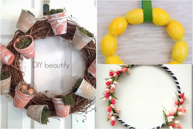 Gorgeous Dollar Store Spring Wreath Inspiration – These gorgeous DIY wreaths were all made from supplies that you can find at your local dollar store! Genius and beautiful dollar store spring decor ideas.