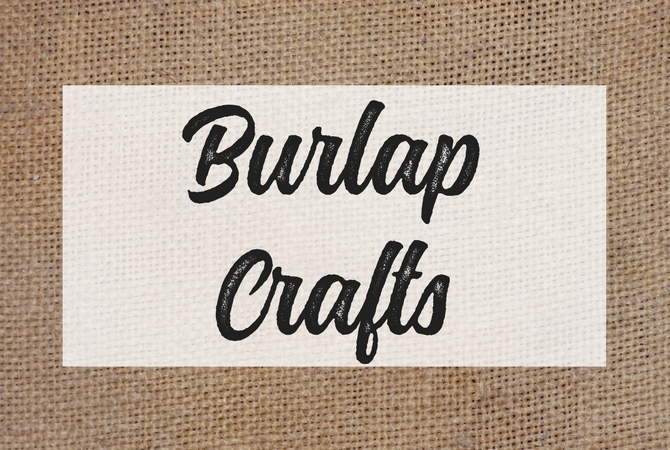 The Best Burlap Decor And Crafts On Pinterest The Crazy Craft Lady