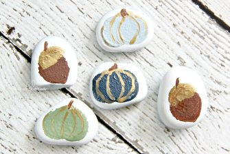 Fall Acorn and Pumpkin Painted Rocks