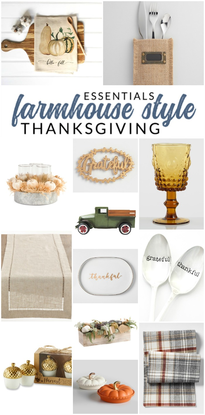 You'll love these farmhouse Thanksgiving decor picks - set your Thanksgiving table with these farmhouse style essentials.