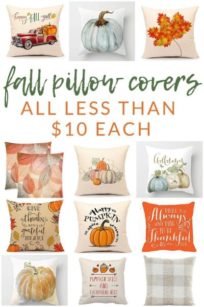 Favorite Fall Pillow Covers – Many are under $10!!!