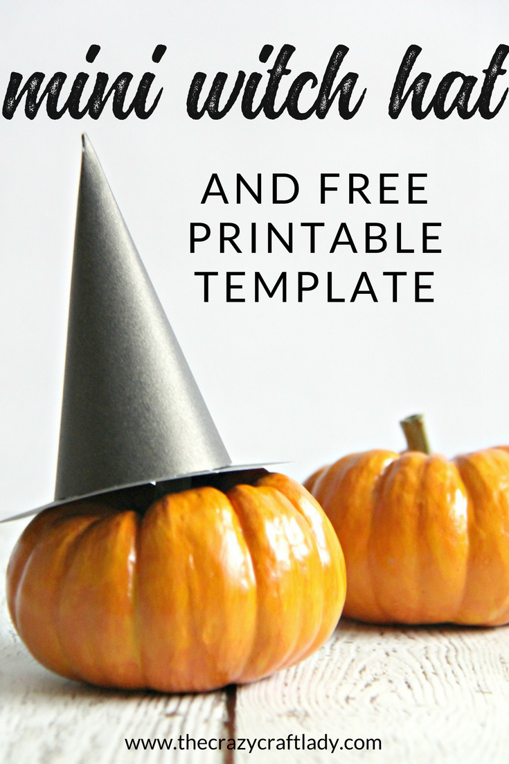 photo relating to Witches Hat Template Printable titled Mini Witch Hat and Printable Template for Halloween - The