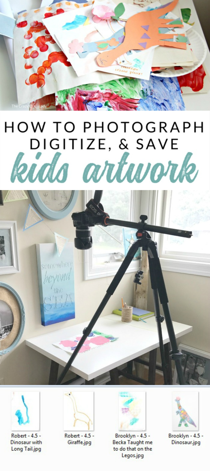 How to Photograph and Save Kids Artwork