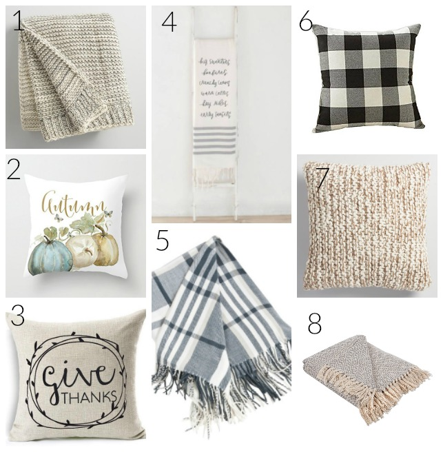 Shopping Guide: fall farmhouse decor on a budget. Looking for ways to add farmhouse style to your home this fall? Check out these affordable, neutral decor picks just in time to start getting ready for the autumn season!