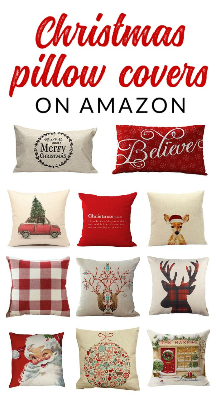 17 Insanely Affordable Christmas Pillow Covers - The Crazy Craft Lady