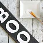 This reversible reclaimed wood sign will last from Halloween through Christmas. Using wood letters, this decorative holiday sign is a easy DIY project to add to your seasonal decor.