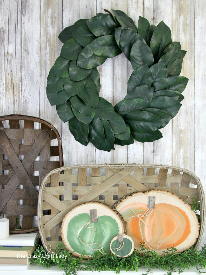 Two Seasonal Wood Round Crafts Reversible Holiday Decor