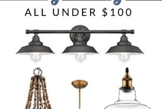 Farmhouse Lighting – Add Farmhouse Style for Under $100