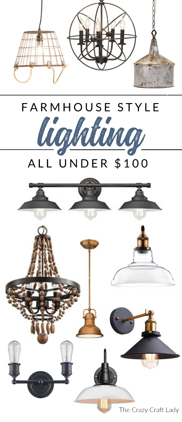 Farmhouse Lighting – Add Farmhouse Style for Under $100