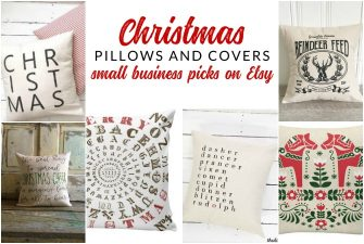 Farmhouse Style Christmas Pillows on Etsy