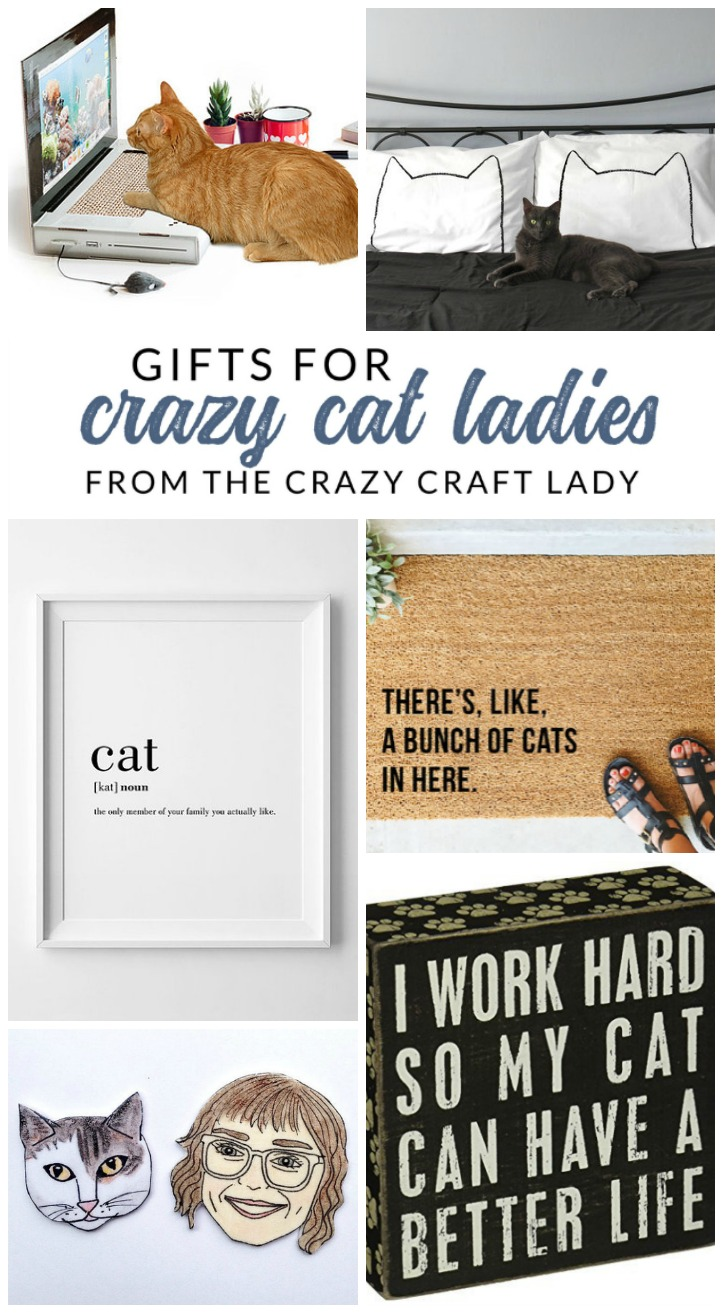 "These gifts for cat lovers are sure to impress the cat parent in your life. Find the perfect gift for the ""Crazy Cat Lady"" in your life"