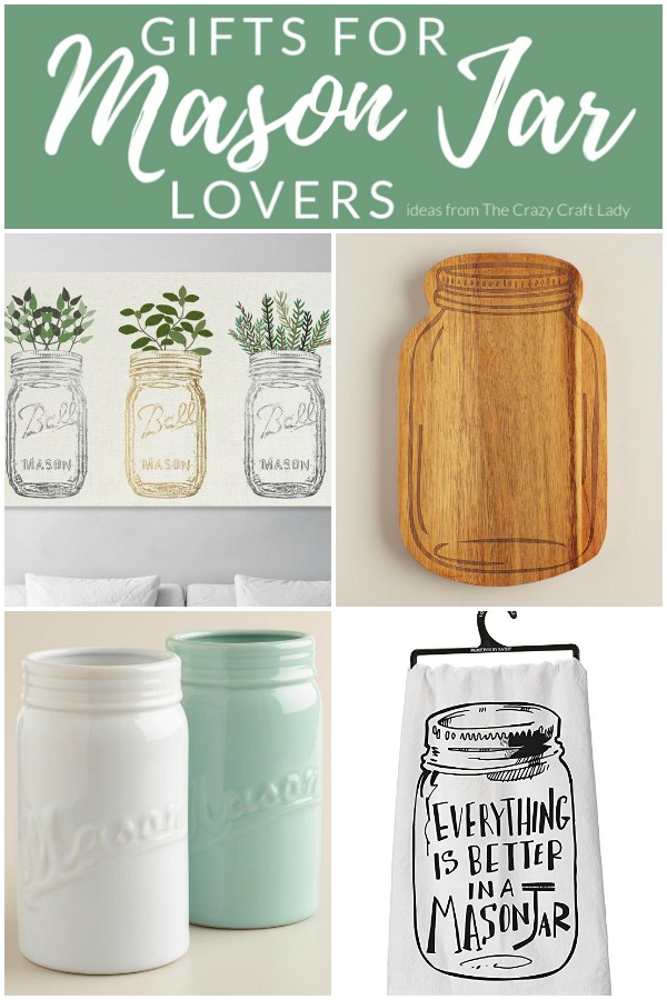 These gift ideas are sure to please any and all mason jar lovers. These mason jar accessories, mason jar lights, cookbooks, and more need to be on your gift list for any lover of mason jars!