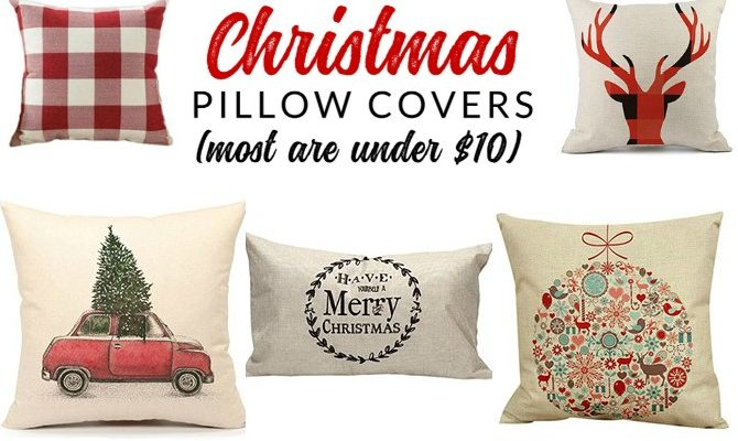25 Insanely Affordable Christmas Pillow Covers