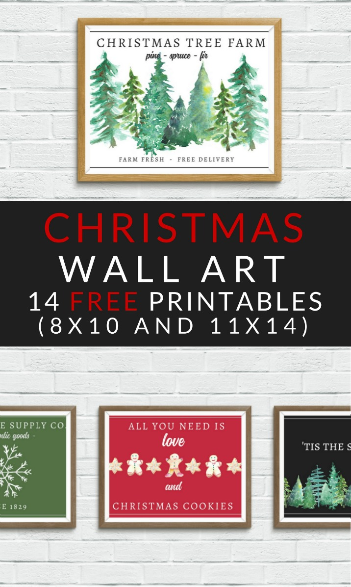 FREE Christmas Printables – Farmhouse Christmas Art