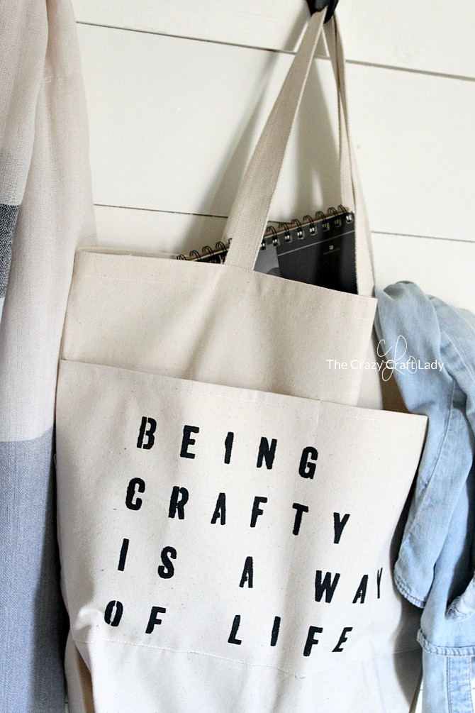 Use Fabric Paint To Make A Diy Craft Tote Bag Take Your Supplies On
