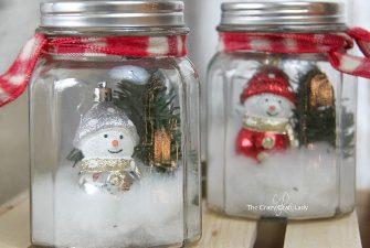 Dollar Store Craft: DIY Mason Jar Snow Globes