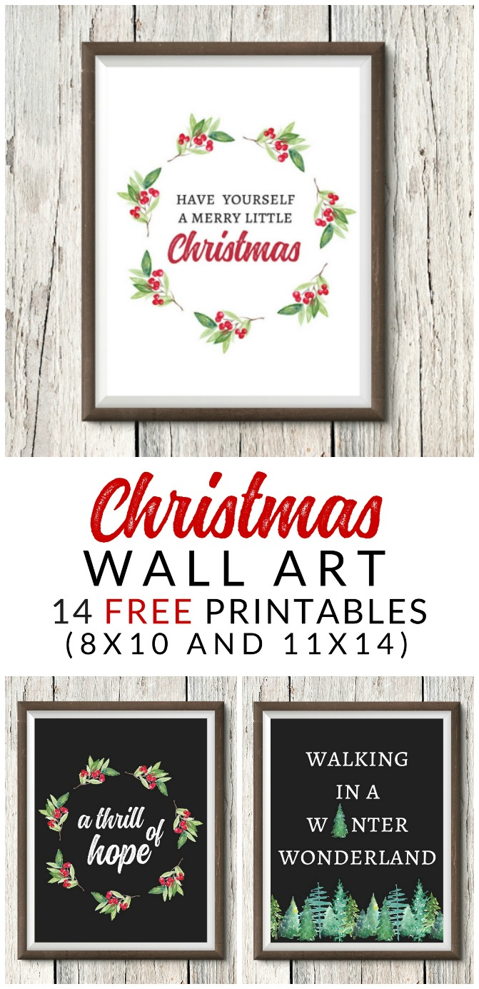 graphic about Christmas Art Printable referred to as Cost-free Xmas Printables - Farmhouse Xmas Artwork - The