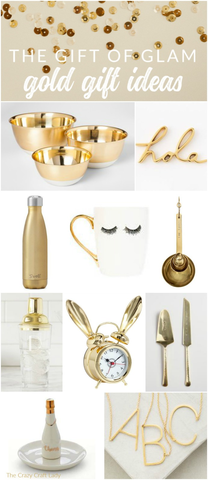 This holiday season, why not give the gift of glitz and glam? There are so many pretty gold present ideas out there, I rounded up my very favorite. Whether it's headphones, desk accessories, or kitchenware, you're sure to find the perfect gold gifts for your mom, sister, BFF, or even a fun hostess gift.