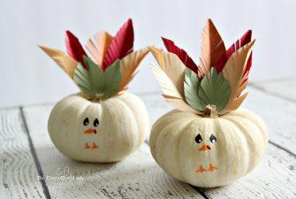 Mini Turkey Pumpkins – A Simple Thanksgiving Craft