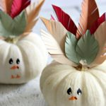 How to make mini turkey pumpkins. These decorated pumpkins are perfect for decorating your Thanksgiving table, or as a kids craft on Thanksgiving day.