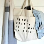Use fabric paint to make a DIY craft tote bag. Take your craft supplies on the go with a handy canvas tote and custom canvas pencil bags.