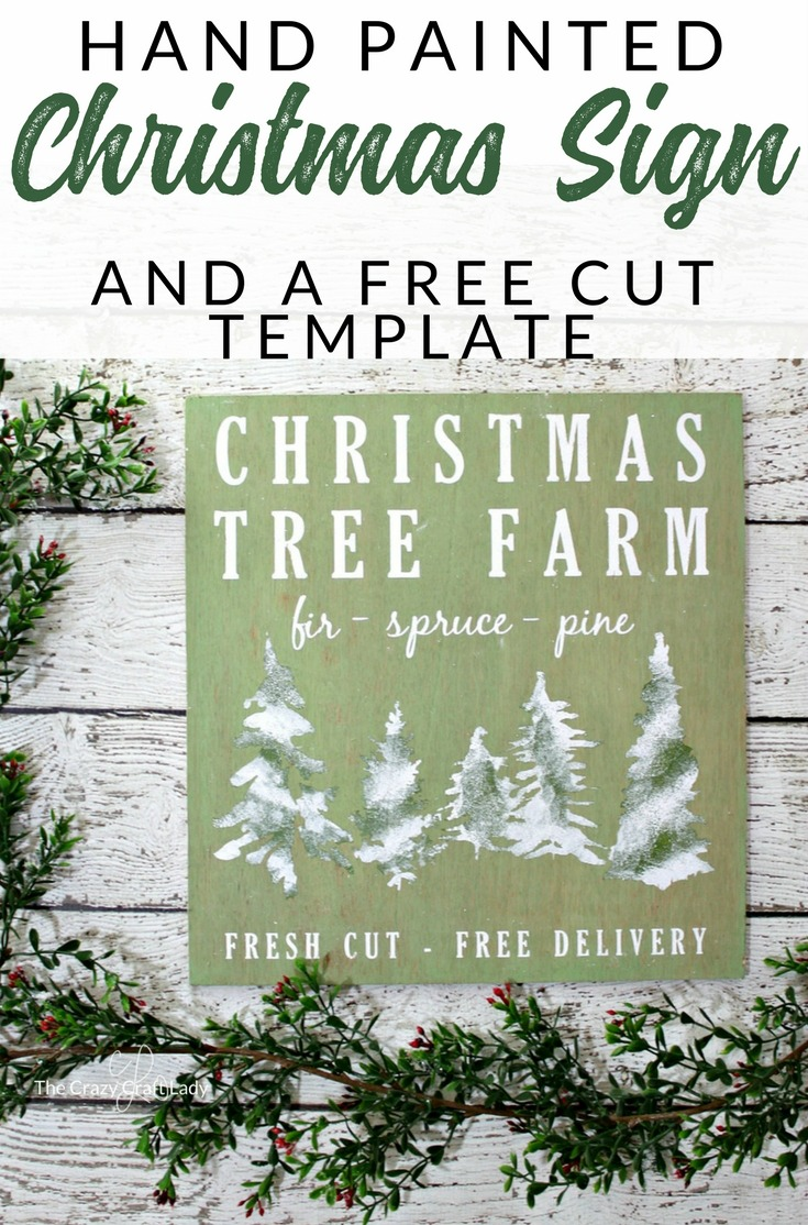 Christmas Tree Farm Sign – A Cricut Project and FREE Template