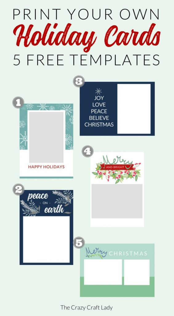 It is an image of Terrible Free Printable Christmas Card Templates