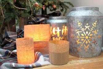 Paper Bag Lanterns – Simple Winter Paper Craft