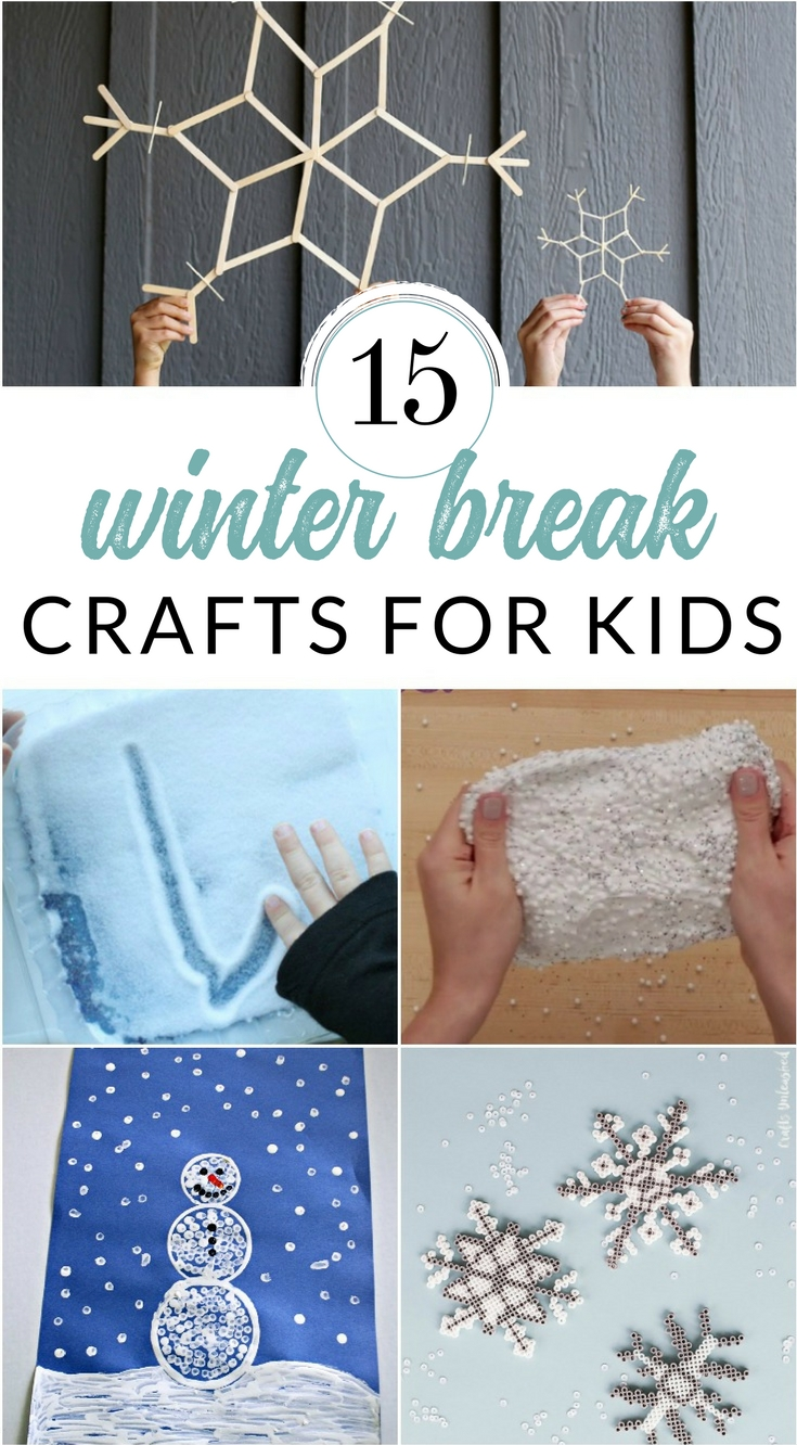 Winter Break Boredom Busters – Crafts and Creative Activities for Snow Days