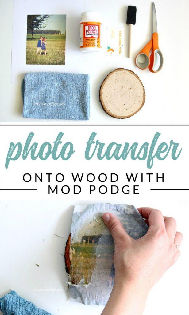 Wood Photo Transfer - A Simple Tutorial Using Mod Podge