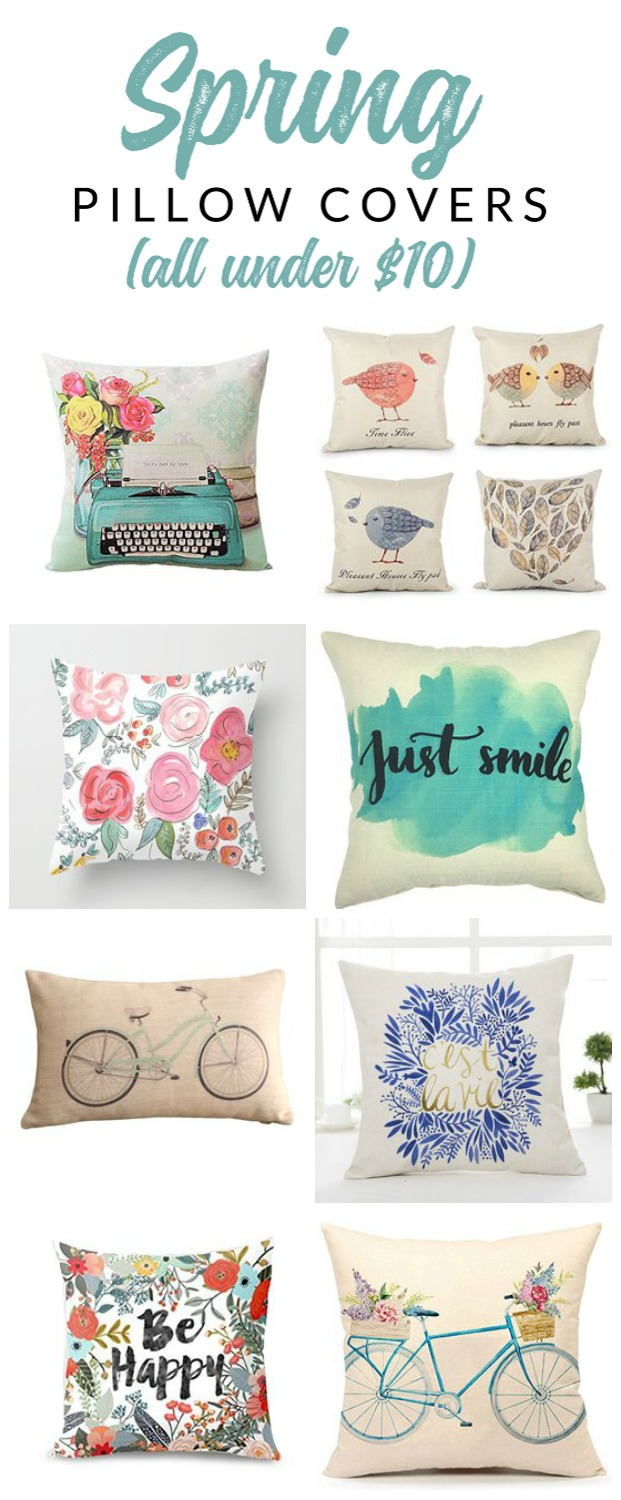 Spring Pillows – Gorgeous Spring Pillow Covers for Seasonal Decorating