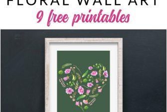 Free Floral Valentine Printable Pack