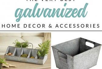 Where to find the BEST Galvanized Decor and Home Accessories