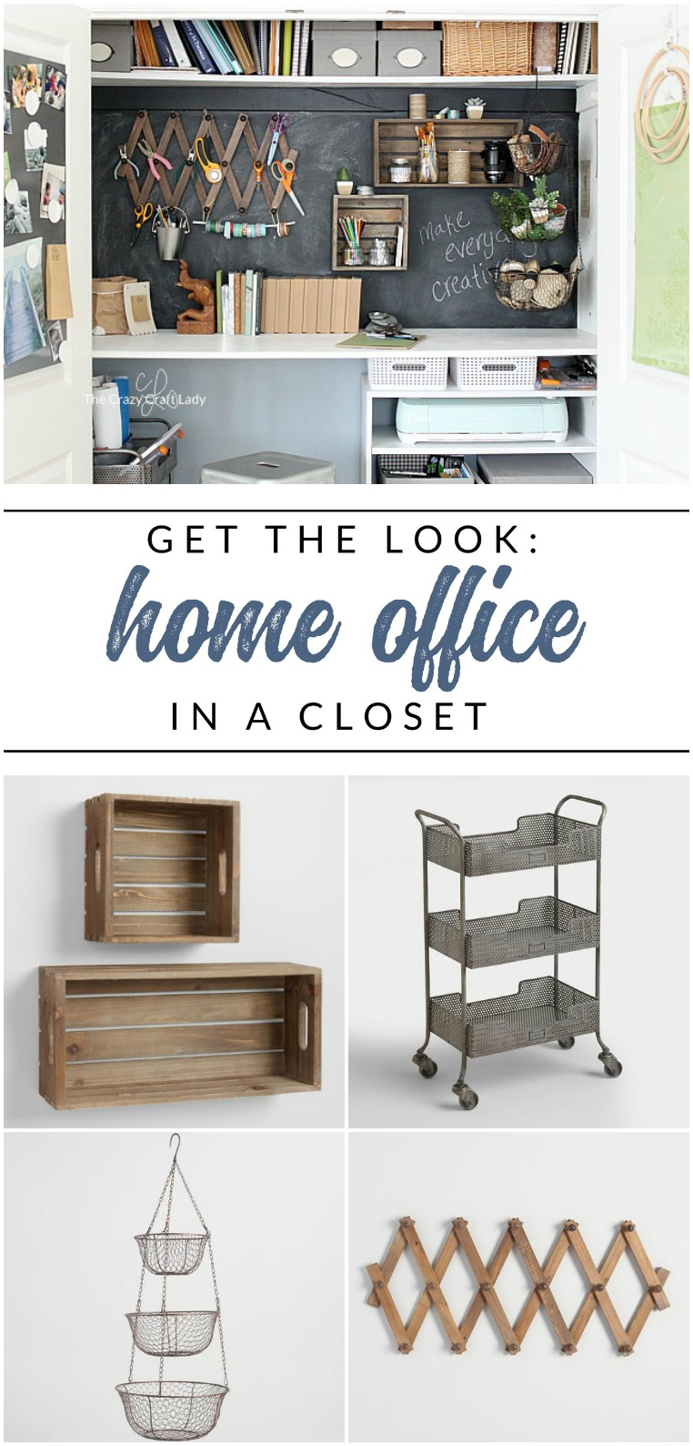 Designing a Closet Desk and Functional Home Work Space - The Crazy ...