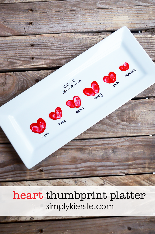 heart thumbprint platter make it a handmade and heartfelt valentines day with these 9 grandparent