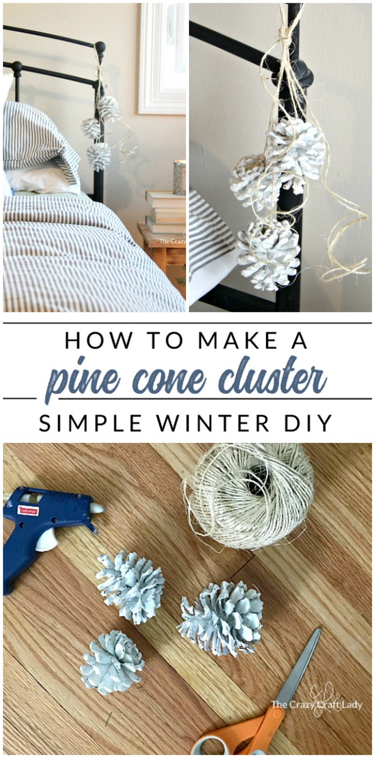 Easy and Inexpensive Winter Decorating Ideas - How to make a pine cone cluster