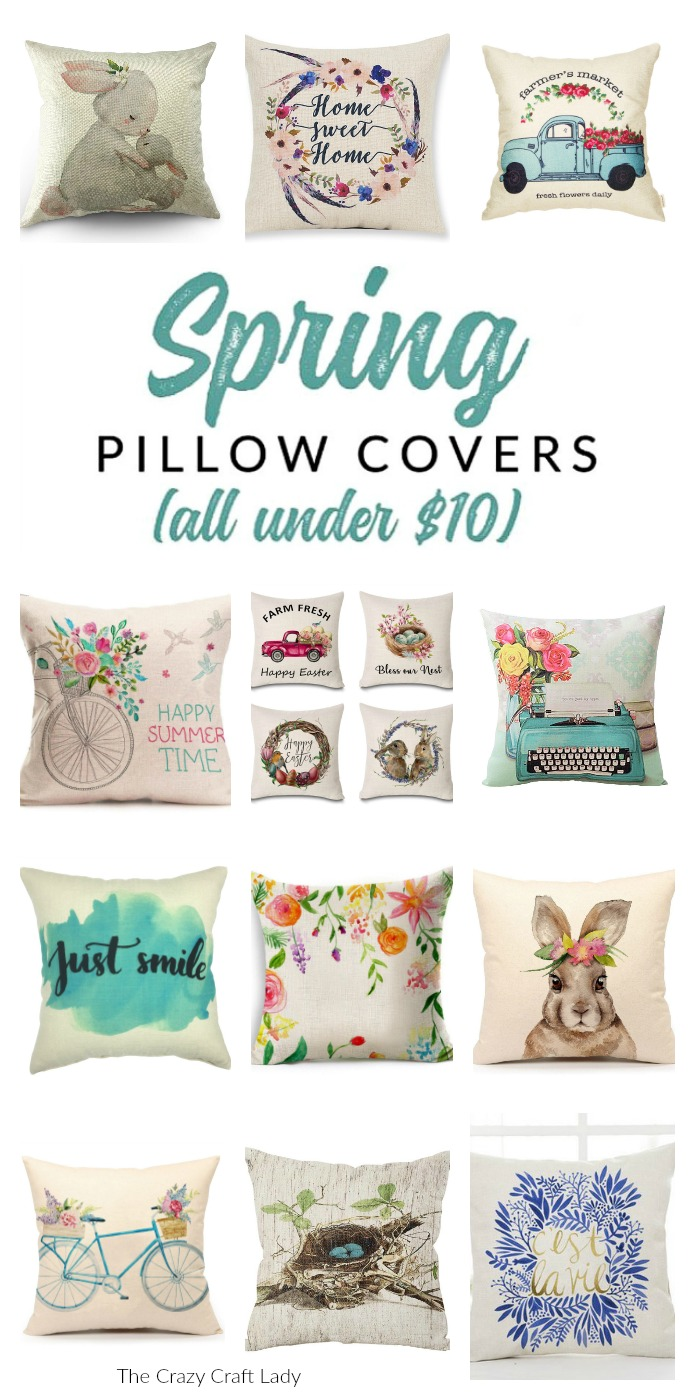 Shop gorgeous spring pillows and covers  – these budget-friendly buys are perfect for changing your home decor for spring. Decorate with affordable throws and pillow covers.